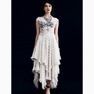 Free People French Courtship Lace Maxi Dress L